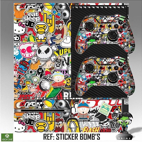Adesivo skin xbox one fat Sticker bomb´s