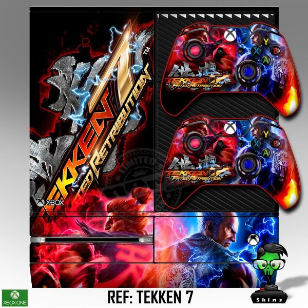 Adesivo skin xbox one fat Tekken 7