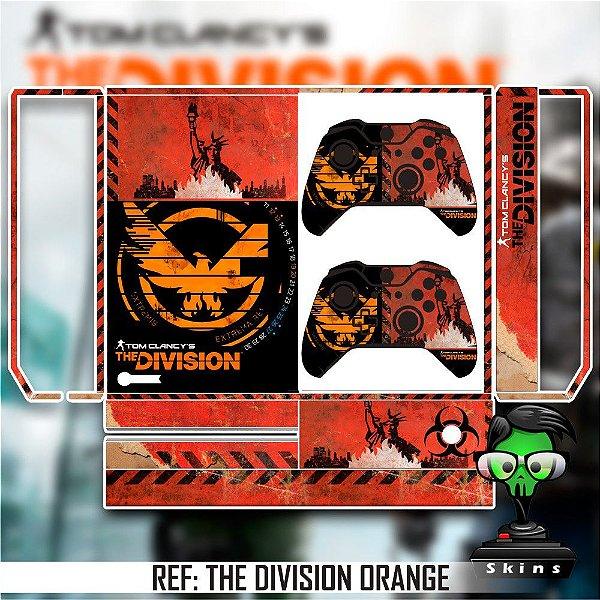 Adesivo skin xbox one fat The Division orange