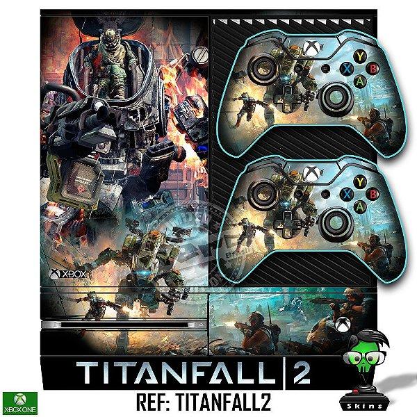 Adesivo skin xbox one fat Titanfall 2