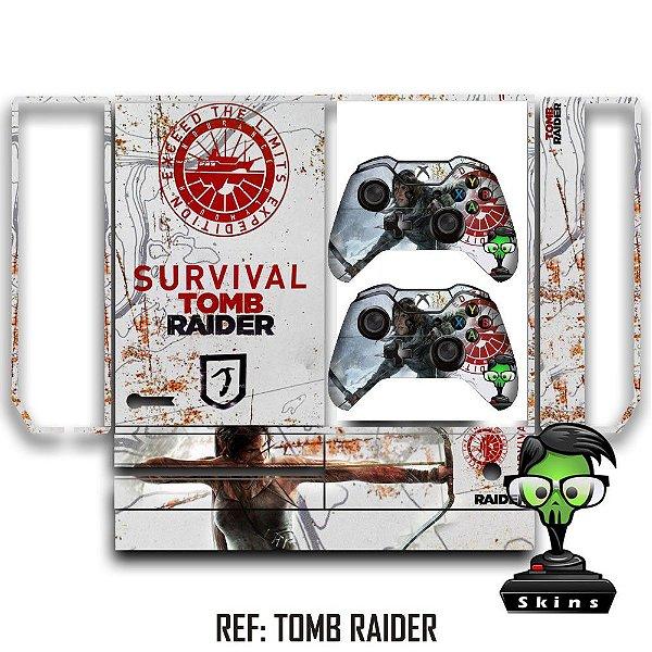 Adesivo skin xbox one fat Tomb Raider