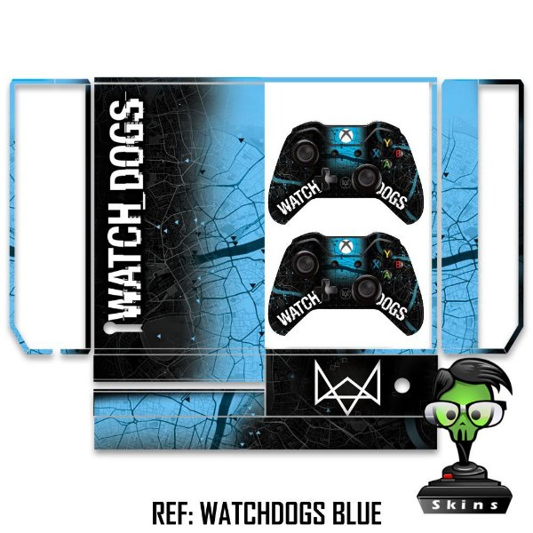 Adesivo skin xbox one fat Watchdogs
