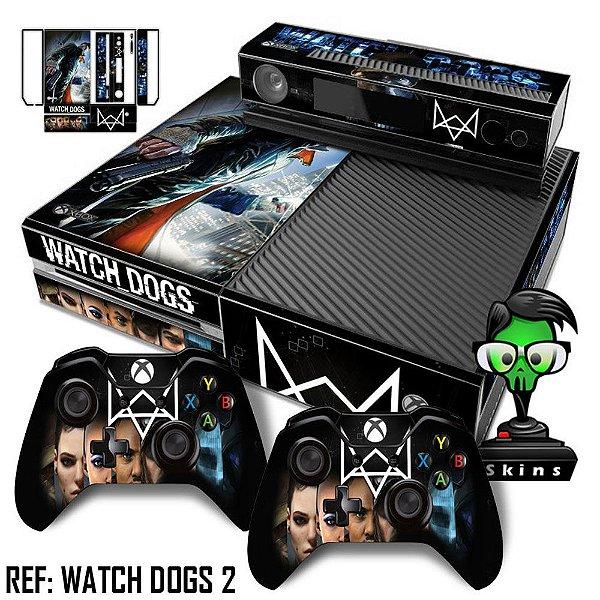 Adesivo skin xbox one fat Watchdogs