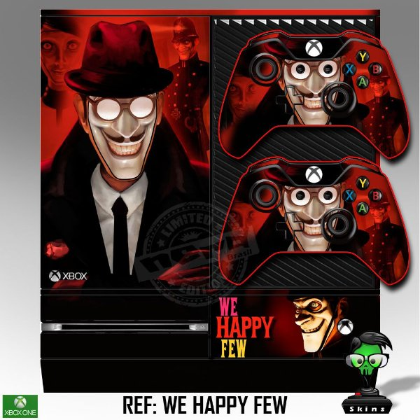 Adesivo skin xbox one fat We happy few