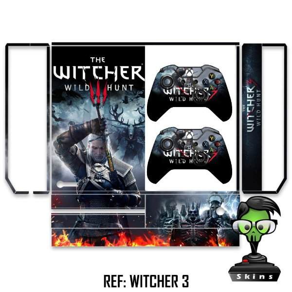 Adesivo skin xbox one fat The witcher 3