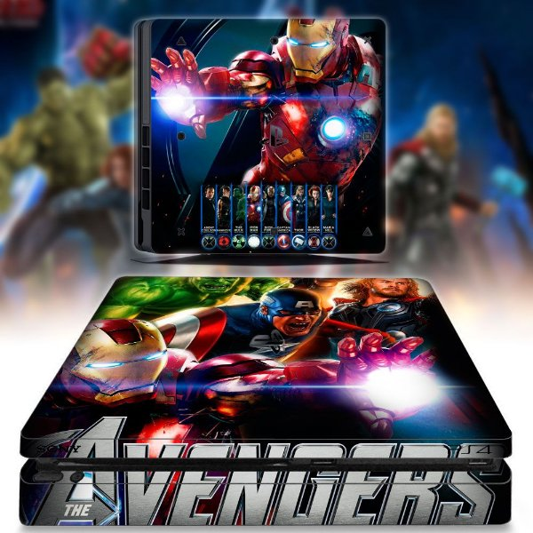 adesivo skin ps4 slim Avengers