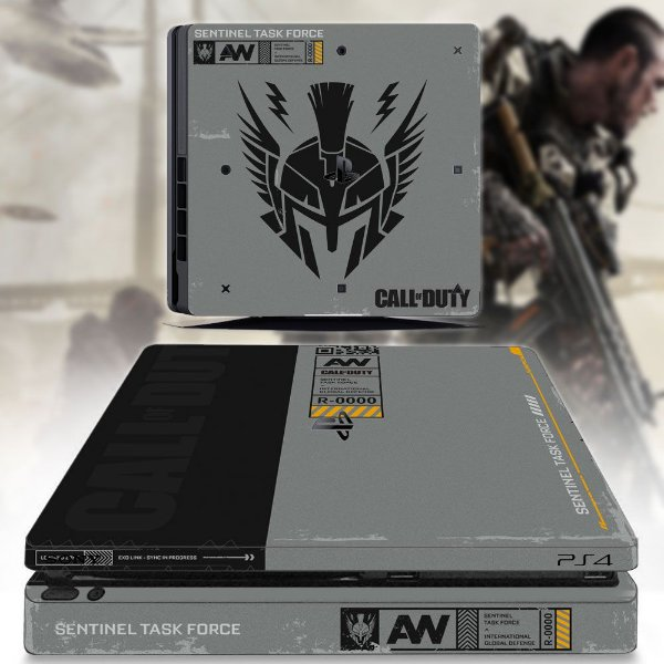 adesivo skin ps4 slim call of duty AW
