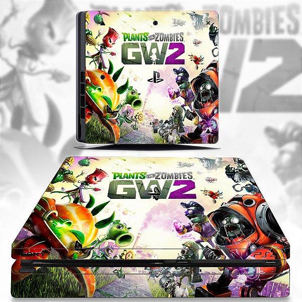 adesivo skin ps4 slim Plants vs zombies gw2