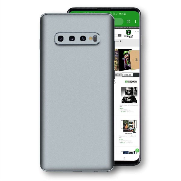 skin adesivo Samsung Galaxy S10 Prata jateado