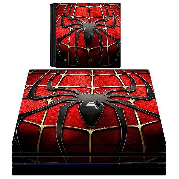 Adesivo skin ps4 slim spiderman