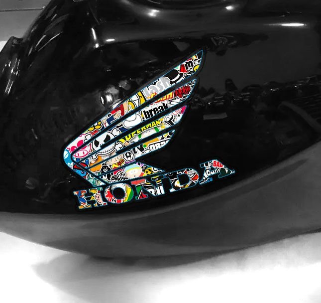 Adesivo de tanque Asa Honda Sticker Bomb´s
