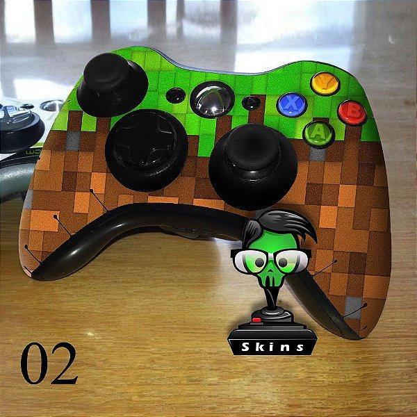 Adesivo de controle xbox 360 Minecraft texture