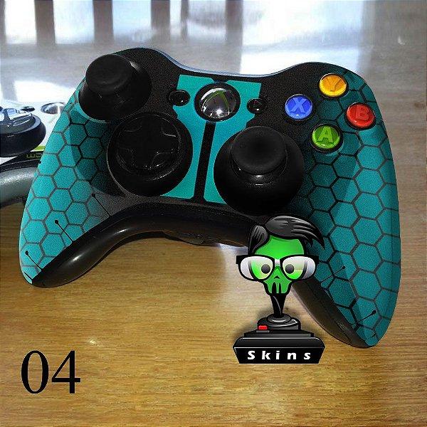 Adesivo de controle xbox 360 Blackops azul