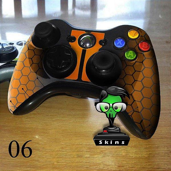 Adesivo de controle xbox 360 Blackops laranja