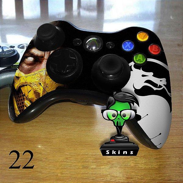 Adesivo de controle xbox 360 Mortal kombat scorpion