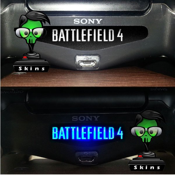 Adesivo lightbar controle ps4 Battlefield 4