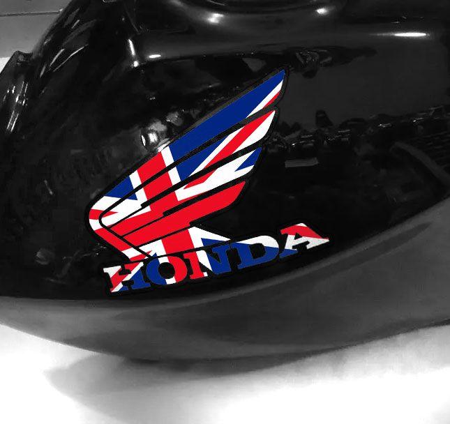 Adesivo de tanque Asa Honda England Flag