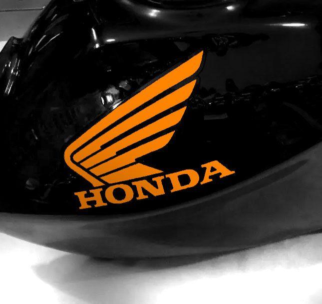 Adesivo de tanque Asa Honda Laranja