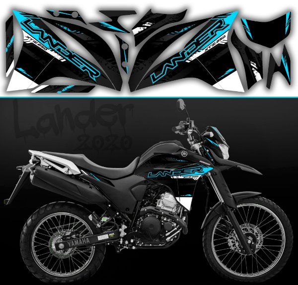 Faixa lander 2020 limited preto com ciano