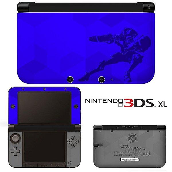Adesivo skin de proteção 3ds XL Metroid blue
