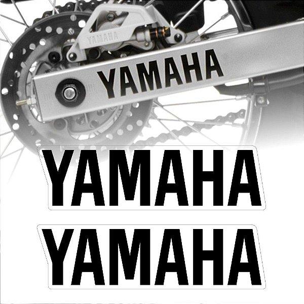Adesivo de balança yamaha letra preta separadas