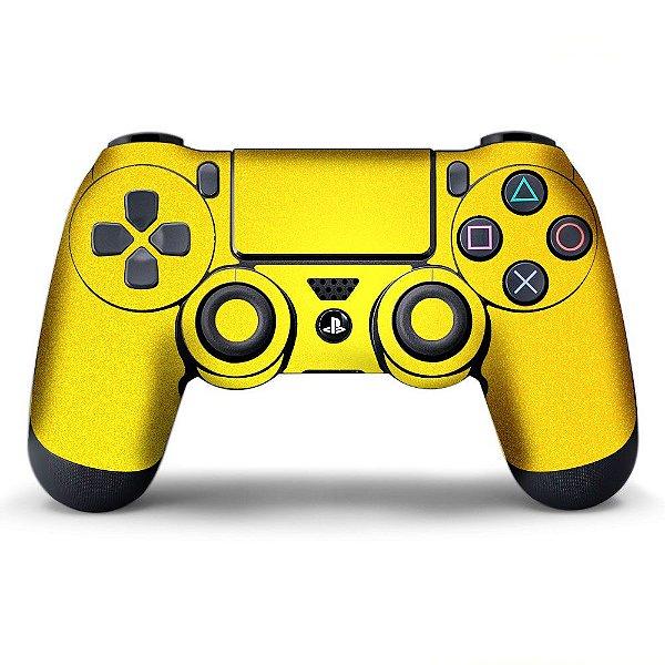 Adesivo de controle PS4 Amarelo Metalizado