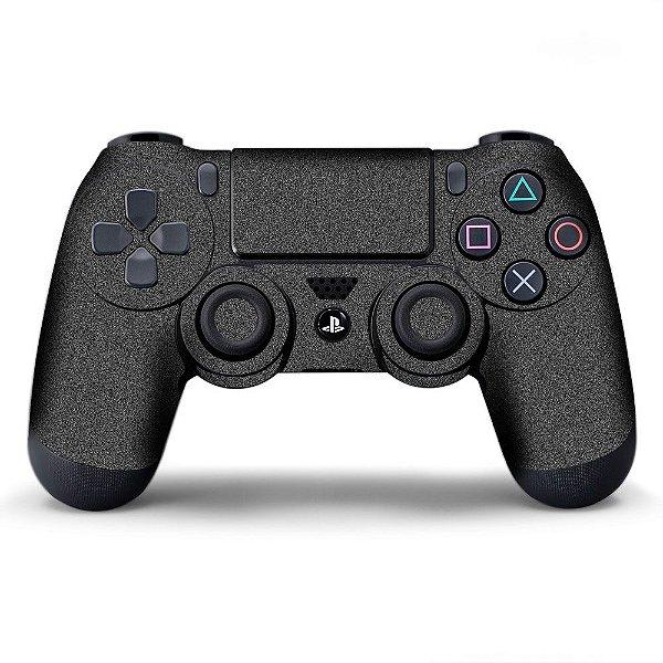 Adesivo de Controle PS4 Chumbo Metalizado
