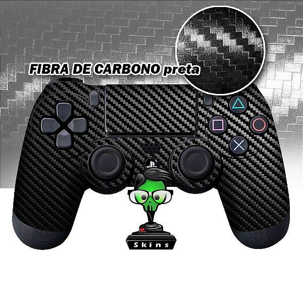 Adesivo de Controle PS4 Fibra de Carbono