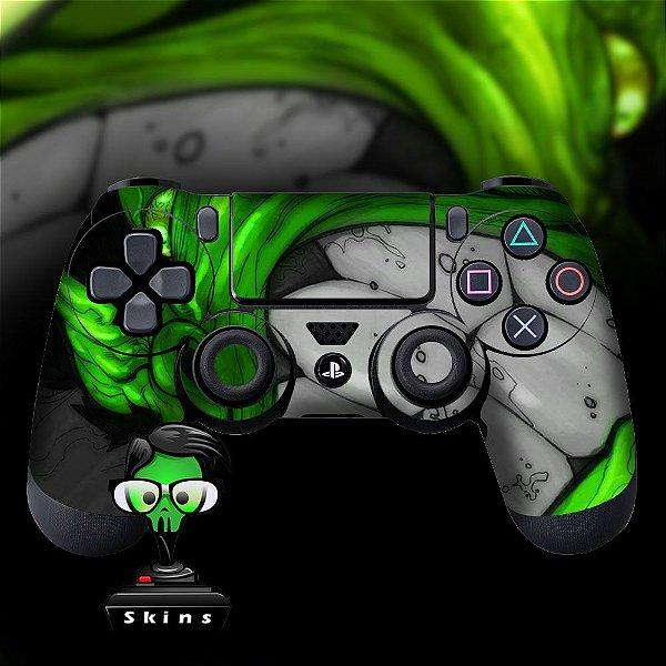 Adesivo de Controle PS4 Hulk Mod 1