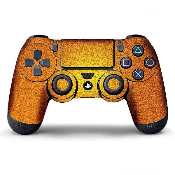 Adesivo de Controle PS4 Laranja Metalizado