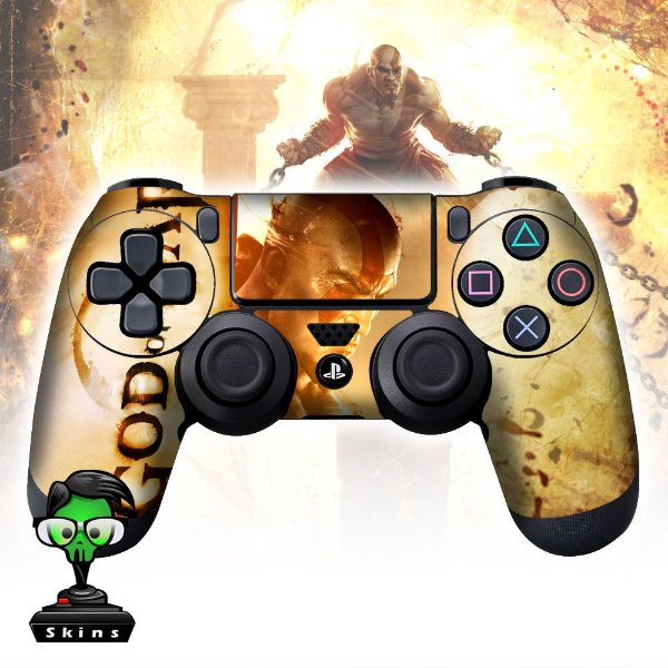 Adesivo de Controle PS4 God of War Kratos Mod 02