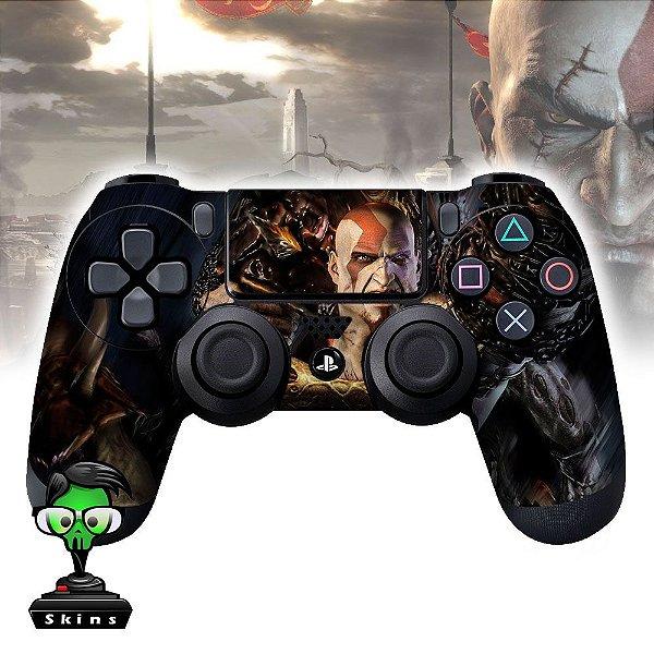 Adesivo de Controle PS4 God of War Kratos Mod 04