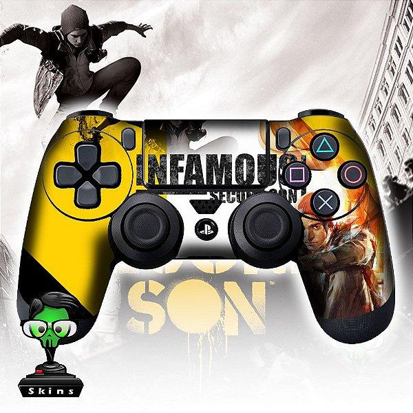 Adesivo de Controle PS4 Infamous Mod 03