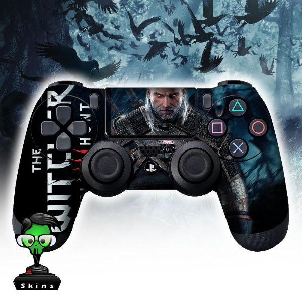 Adesivo de Controle PS4 The Witcher Mod 01