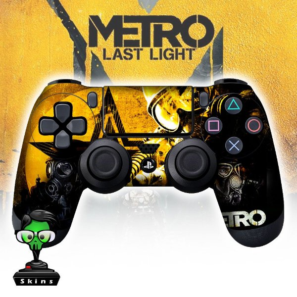 Adesivo de Controle PS4 Metro Last Ligth Mod 01