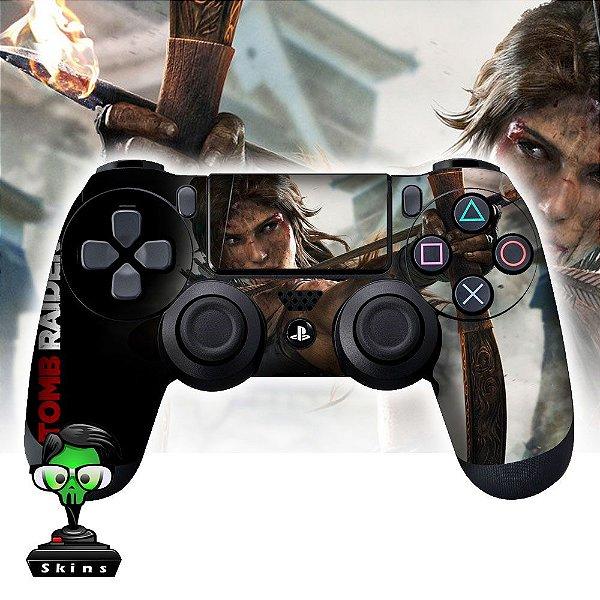 Adesivo de Controle PS4 Tomb Raider Mod 01