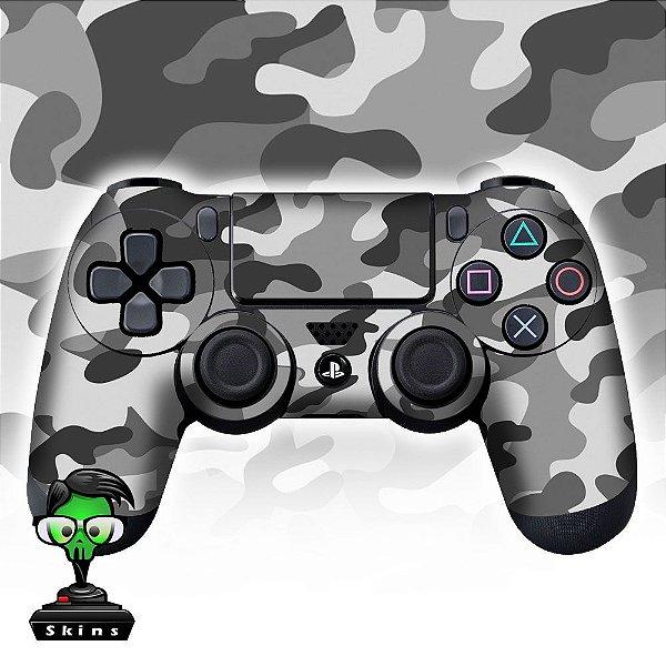 Adesivo de Controle PS4 Camuflado Cinza