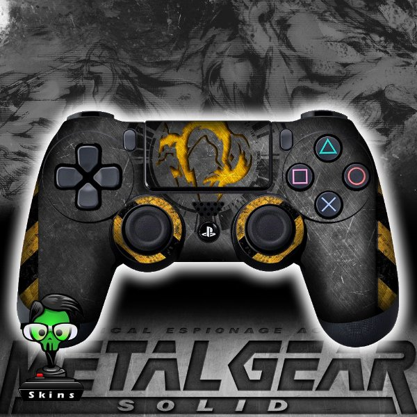 Adesivo de Controle PS4 Metal Gear Mod 04