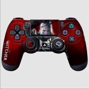 Adesivo de Controle PS4 The Witcher Mod 02