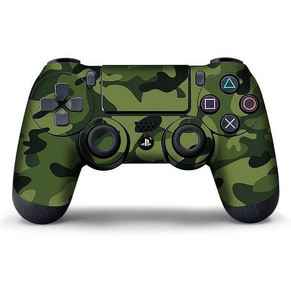 Adesivo de Controle PS4 Camuflado Verde mod 02