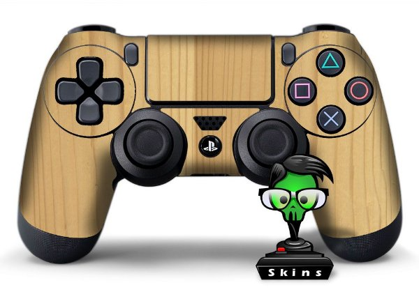 Adesivo de Controle PS4 Madeira Mod 06