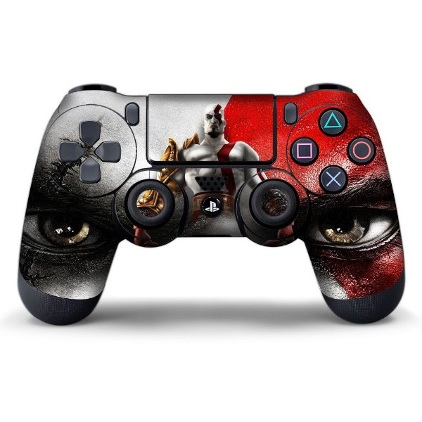 Adesivo de Controle PS4 God of War Kratos Mod 07