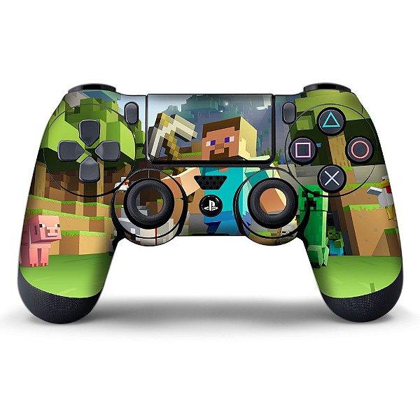 Adesivo de Controle PS4 Minecraft Mod 02