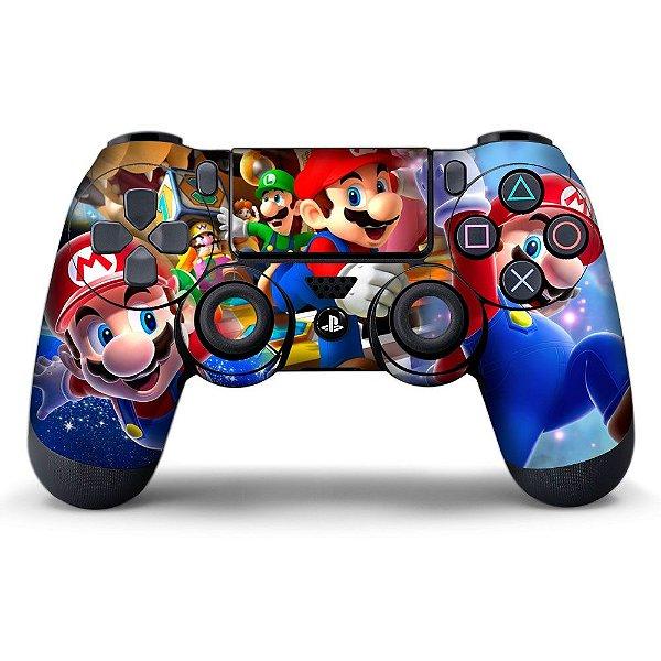 Adesivo de Controle PS4 Mario Bros Mod 01