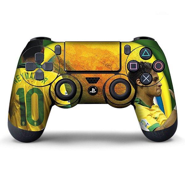 Adesivo de Controle PS4 Brasil Neymar Mod 01