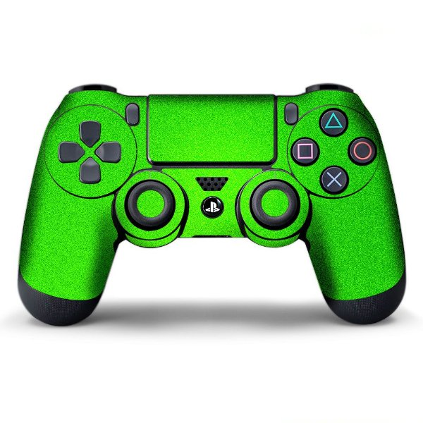 Adesivo de Controle PS4 Verde Metalizado Mod 01