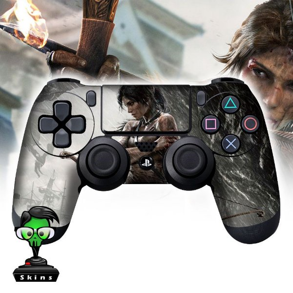 Adesivo de Controle PS4 Tomb Raider Mod 02