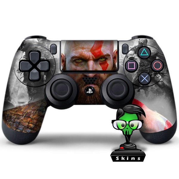 Adesivo de Controle PS4 God of War Kratos Mod 06