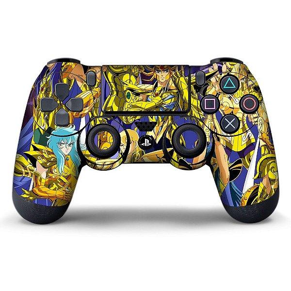 Adesivo de Controle PS4 Cavaleiros do Zodiaco Mod 01