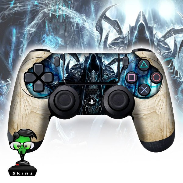 Adesivo de Controle PS4 Diablo White Mod 01